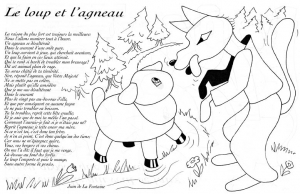 coloriage-loup-agneau-lafontaine free to print