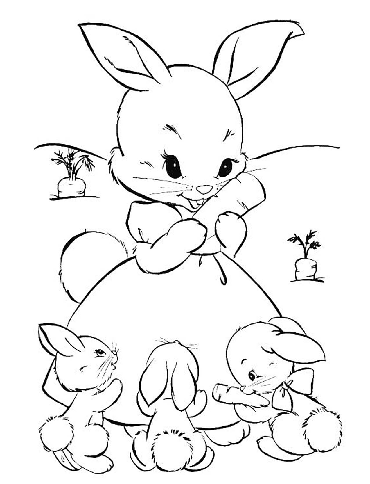 Lapin à Colorier Et Imprimer lapin de paques à colorier et imprimer ~ Galerie de couleurs d'images