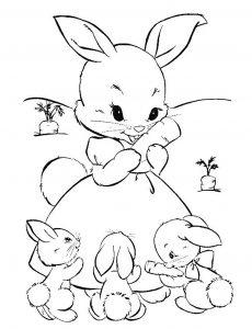 Dessin de lapin gratuit à imprimer et colorier