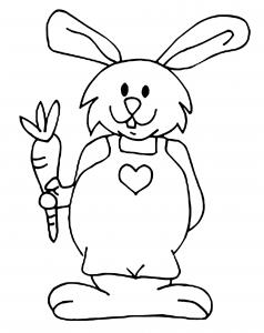 Coloriage de lapin à imprimer gratuitement