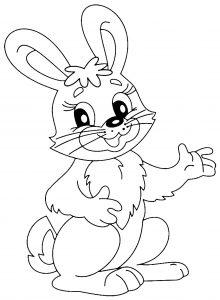 Image de lapin à imprimer et colorier