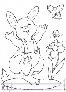 coloriage-lapin-1 free to print