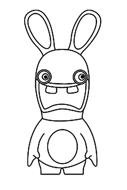 Lapins cretins 4 coloriage lapins cr tins coloriages - Mandala lapin ...