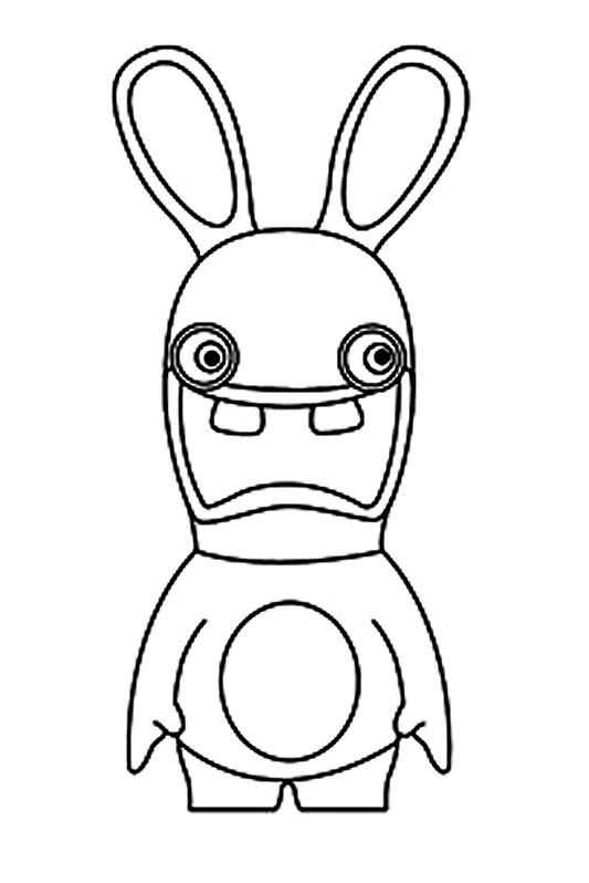 Coloriage lapins cr tins coloriages pour enfants coloriage lapins cretins 4 - Lapin cretin vampire ...