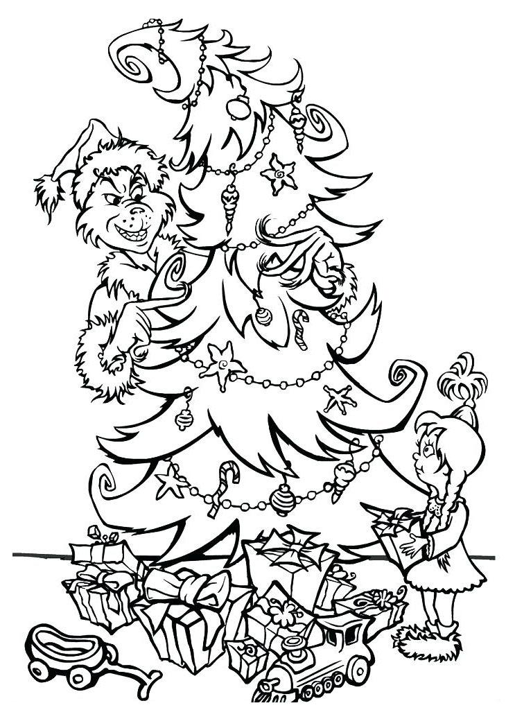 Ajouter des couleurs à ce beau sapin de Noël décoré par Le Grinch !