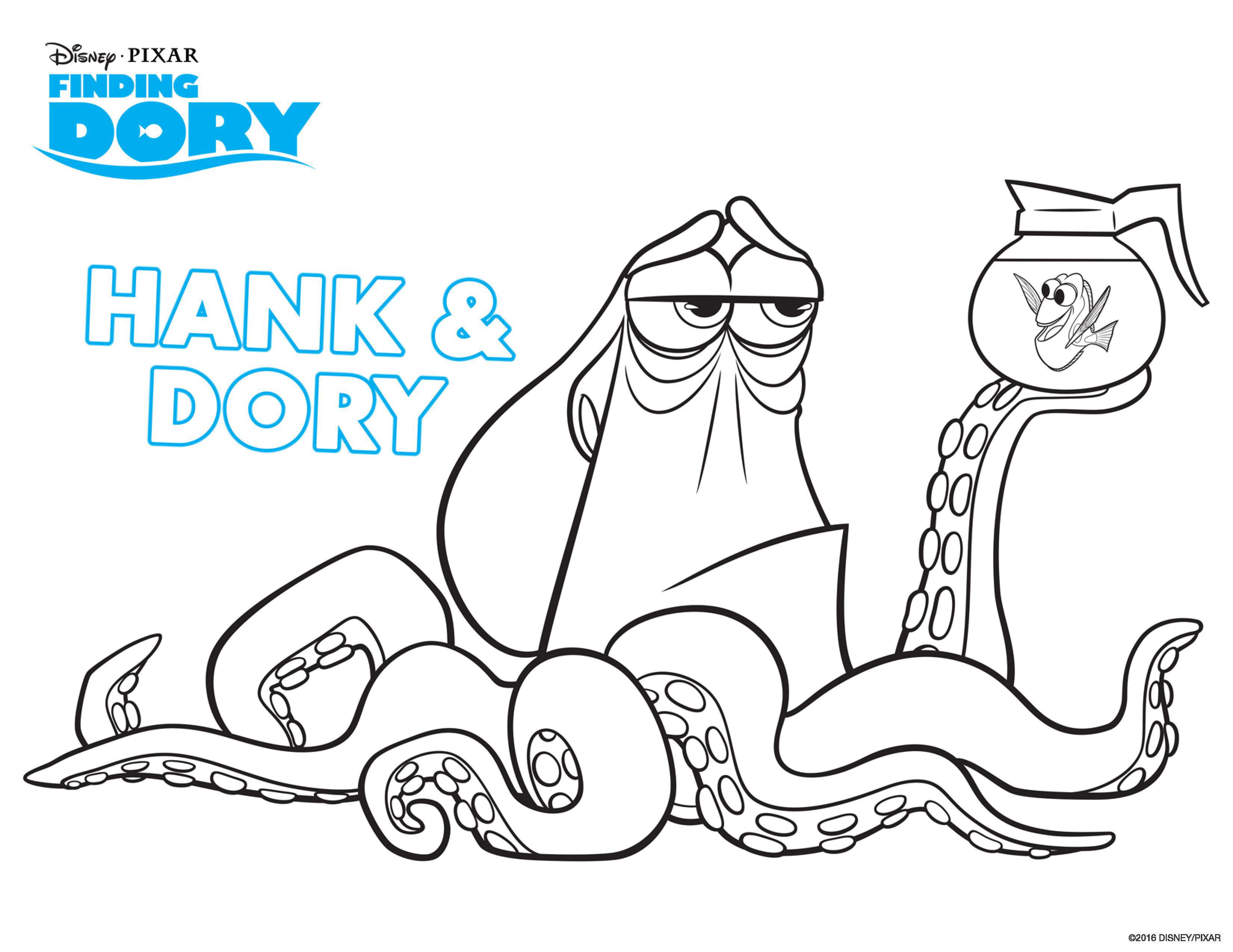 Dory et son dr´le d ami Hank