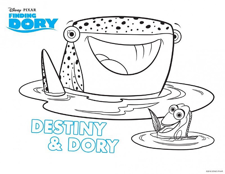 Coloriage Le Monde de Dory Destiny & Dory