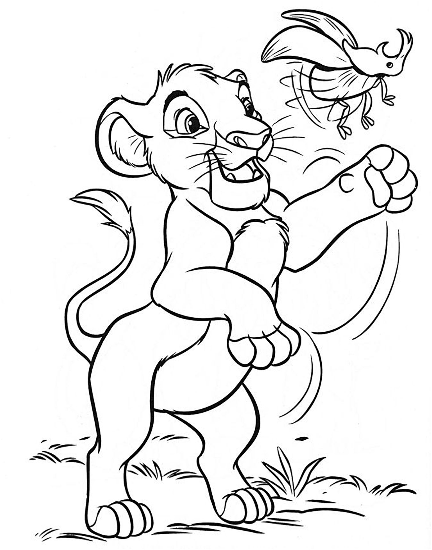 It is an image of Crazy lion king coloring pictures