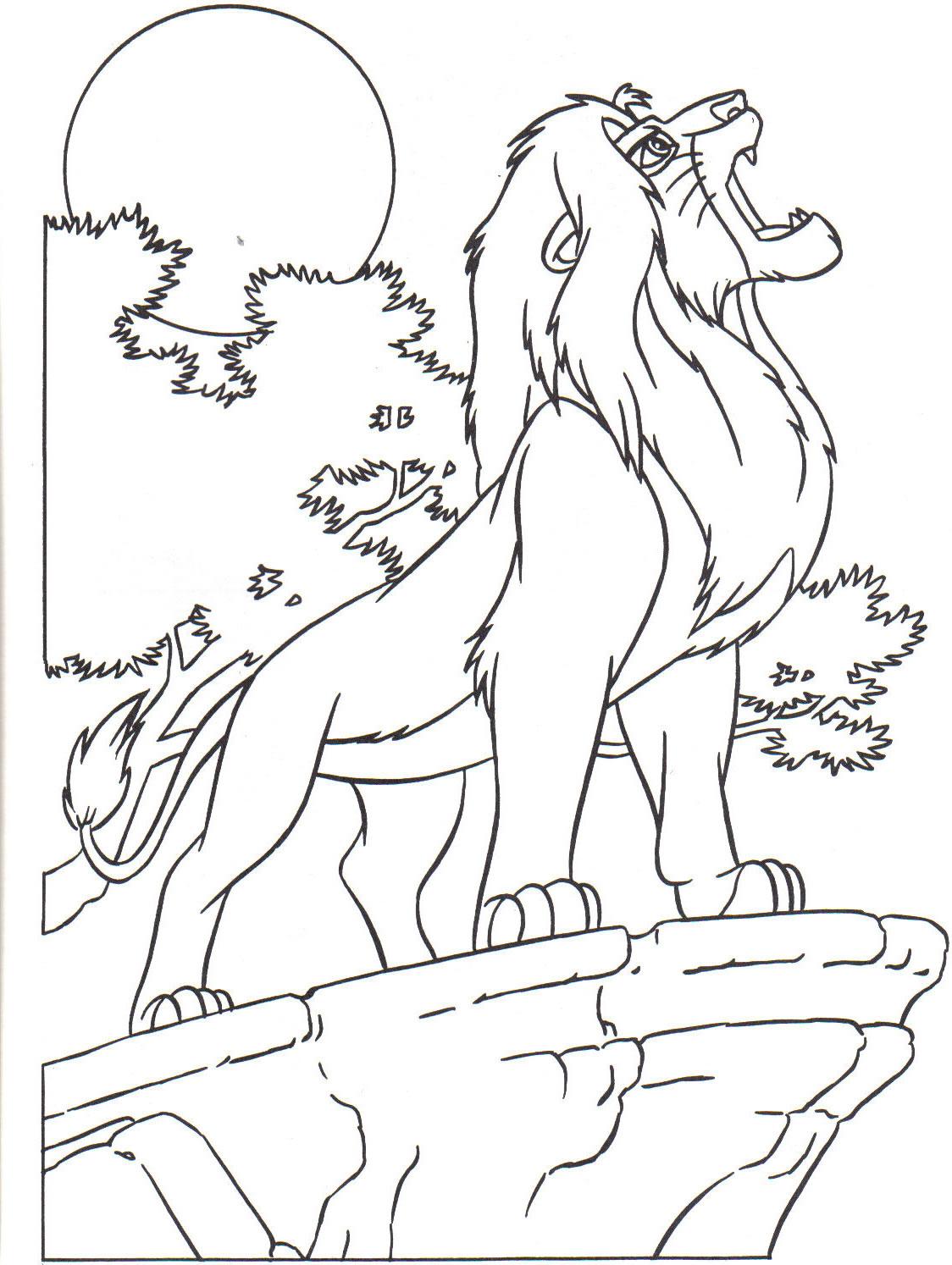 Le Roi Lion 4 Coloriage Le Roi Lion Coloriages Pour Enfants