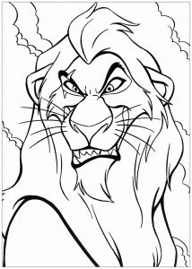 Coloriage enfant le roi lion 5