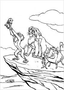 Coloriage enfant le roi lion 7