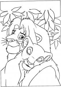 Coloriage le roi lion 5