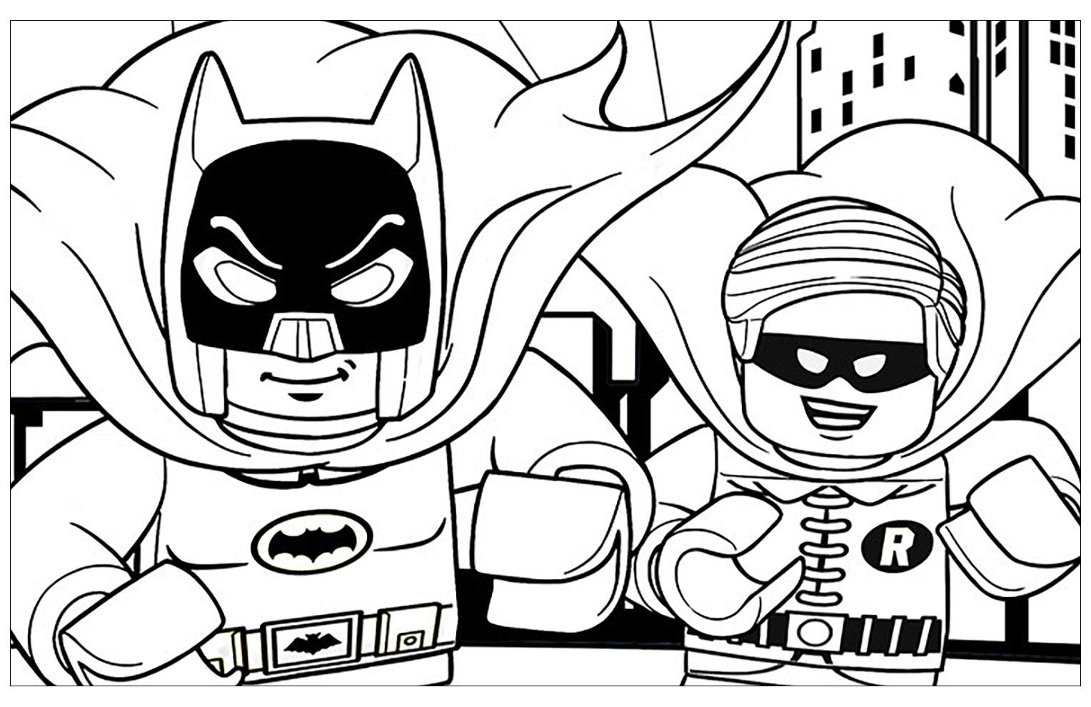 Image De Lego Batman A Imprimer Et Colorier Coloriage Lego