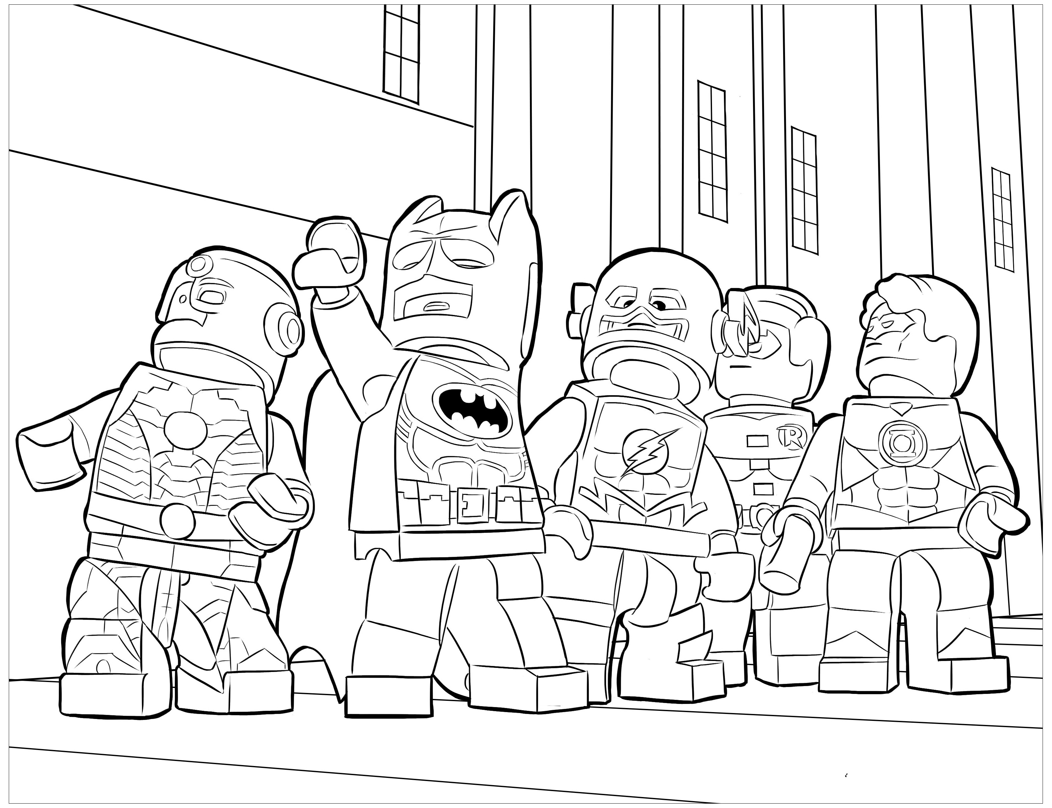Lego Batman 2 Coloring Pages Batman Lego Coloring Pages Cmseal - Drawing Coloring Page