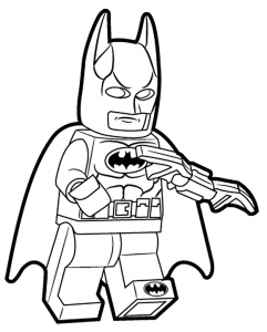 Coloriage enfant lego batman 1