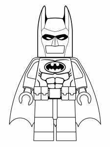 Coloriage enfant lego batman 4
