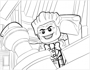 Coloriage enfant lego batman le joker