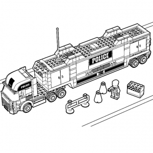 coloriage-camion-police-lego free to print