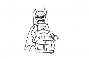 Coloriage lego batman