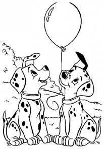 Coloriage de Les 101 Dalmatiens pour enfants
