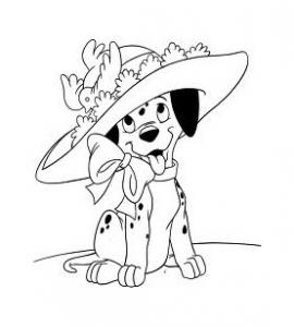 Dessin de Les 101 Dalmatiens gratuit à télécharger et colorier