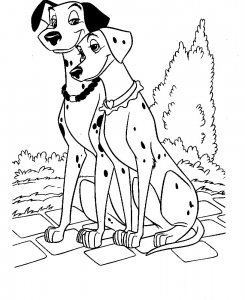 Coloriages 101 dalmatiens disney 2