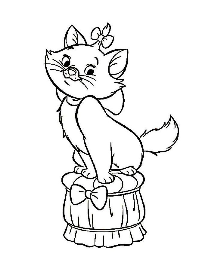 Aristochats disney 2 coloriage les aristochats - Coloriage aristochat ...