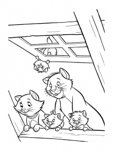coloriage aristochats disney 1