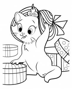 coloriage-aristochats-disney-1 free to print