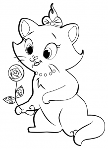 coloriage-aristochats-disney-3 free to print
