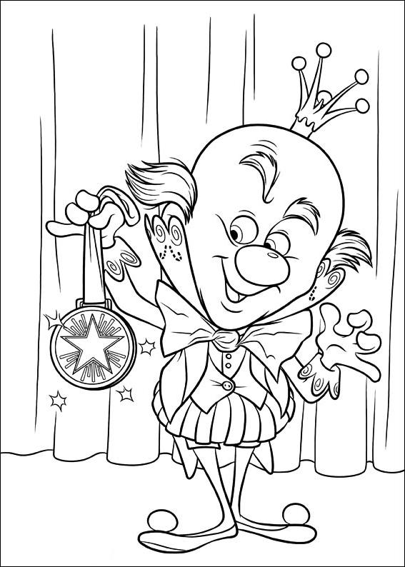 L'étrange King Candy avec la médaille de la course de voitures