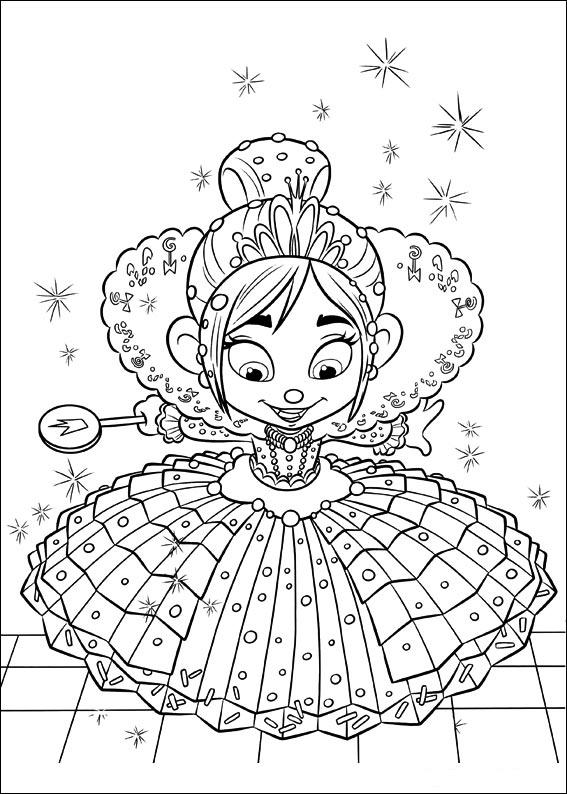 Vanellope von Schweetz avec une jolie robe de Princesse Disney !