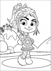 coloriage-les-mondes-de-ralph-vanellope free to print