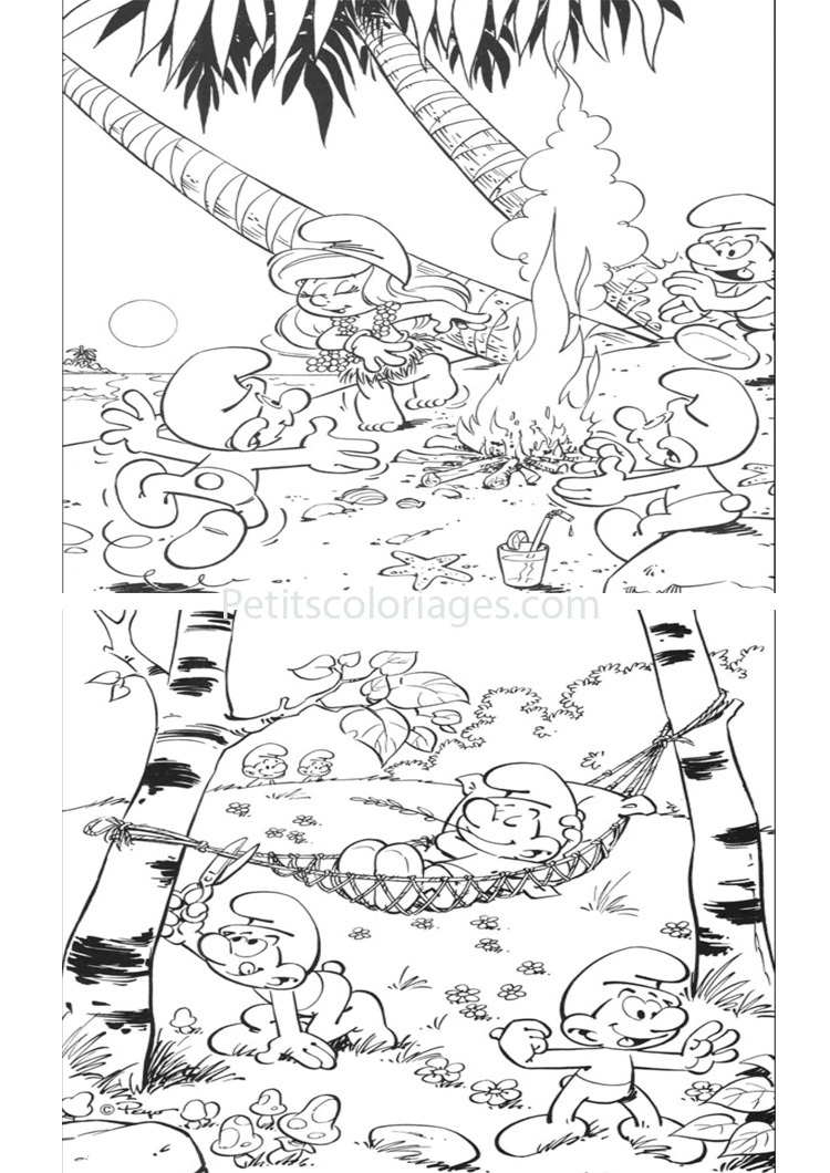 Image des Schtroumpfs  imprimer et colorier