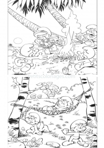 coloriage_schtroumpf-2 free to print