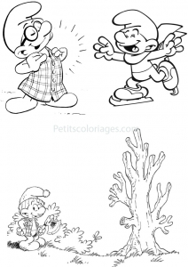 coloriage_schtroumpf-9 free to print