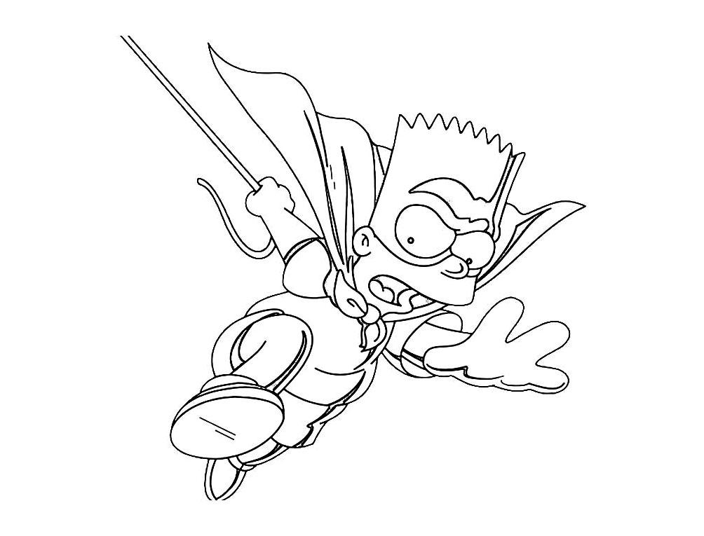 Coloriage amusant de Les Simpsons à imprimer et colorier