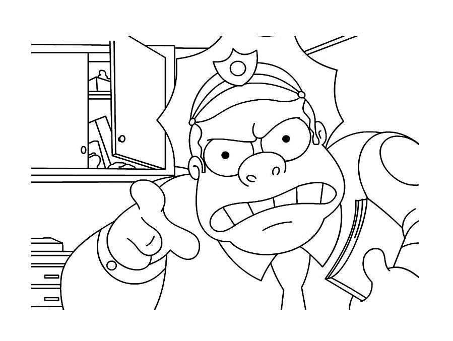 Dessin de Les Simpsons à imprimer et à colorier