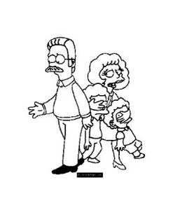 Dessin de Les Simpsons gratuit à imprimer et colorier