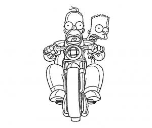 Coloriage de Les Simpsons à telecharger gratuitement