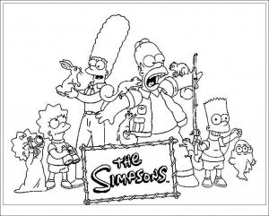 Coloriage de Les Simpsons à télécharger