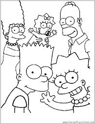 Coloriage simpsons bart homer marge lisa 2