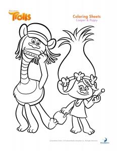 coloriage-les-trolls-cooper-et-poppy free to print