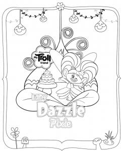 coloriage les trolls dazzle pixie