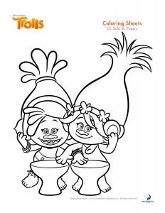 Coloriage les trolls dj suki poppy