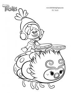 coloriage les trolls dj suki