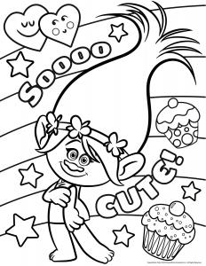 coloriage-les-trolls-poppy-so-cute free to print