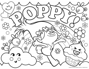 coloriage les trolls poppy