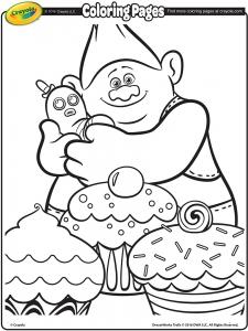 coloriage-les-trolls free to print