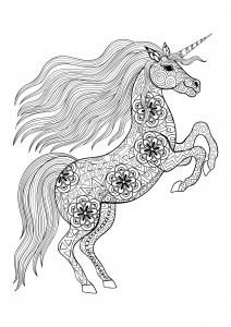 Coloriage de licorne à colorier pour enfants
